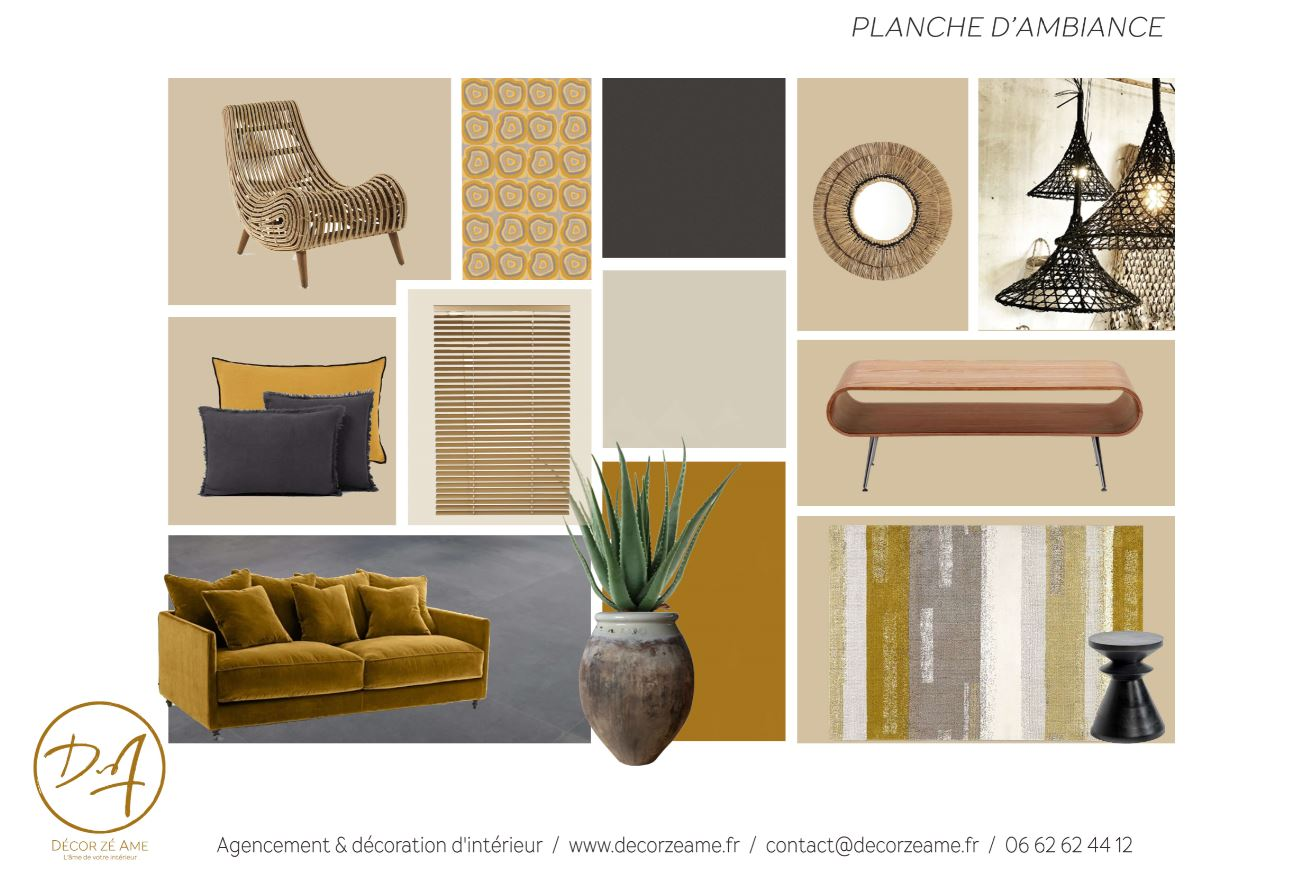 cr er une planche d 39 ambiance d coration d 39 int rieur st g ly du fesc montpellier h rault. Black Bedroom Furniture Sets. Home Design Ideas