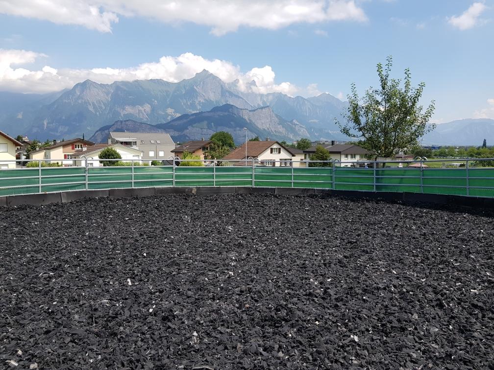 Roundpen 15m Durchmesser mit Swingground-Boden