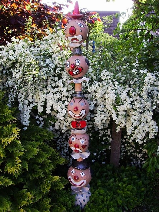 Clown Totem in my backyard, not for Sale