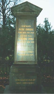 Minnessten på västra kyrkogården