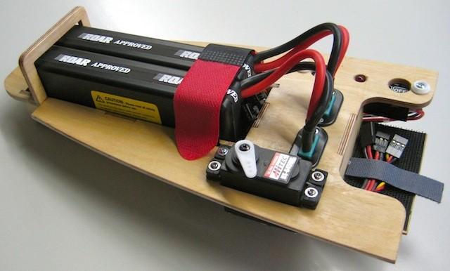 RC-Montagebrett (2xAkku/Klinkservo/DPSI Micro/MPX-Stecker)