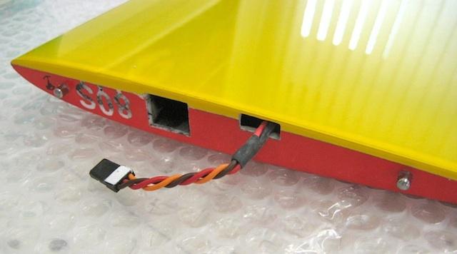 RC-JR-Stecker im Tragflächen-Aussenflügel