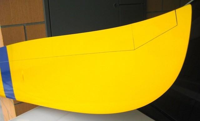 """Fertiges Modell """"Detail Tragfläche"""""""