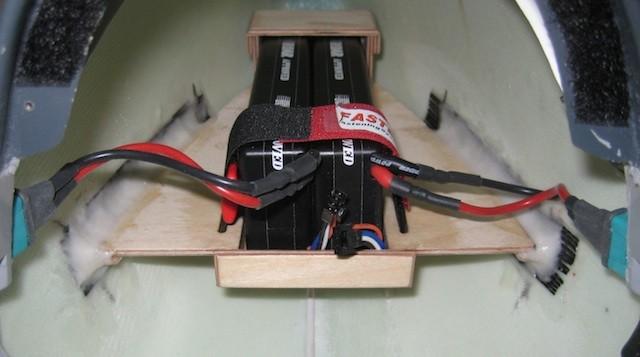 RX-Akkuhalter für 2x 2S-Lipo, 5'400mAh