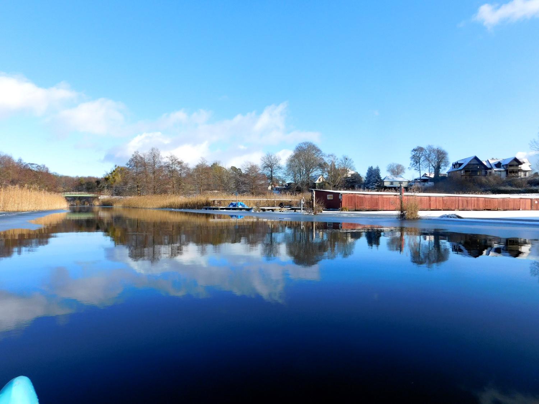 Auf dem Templiner Kanal im Winter 2021.