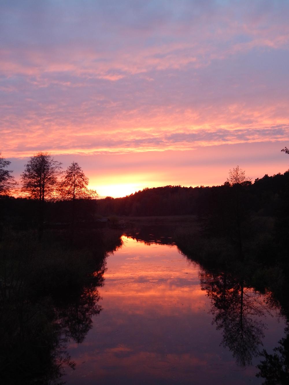 Abendstimmung am Templiner Kanal Ziegeleibrücke.
