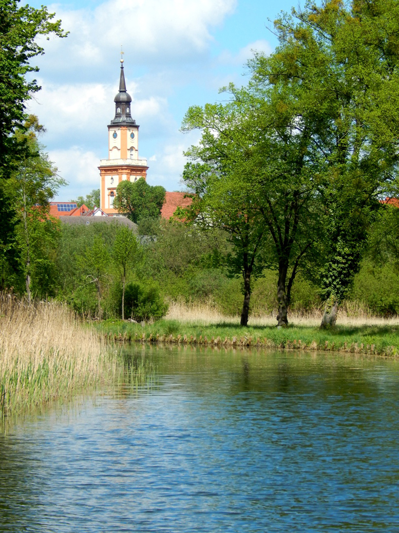 Templiner Kanal Richtung Schleuse.