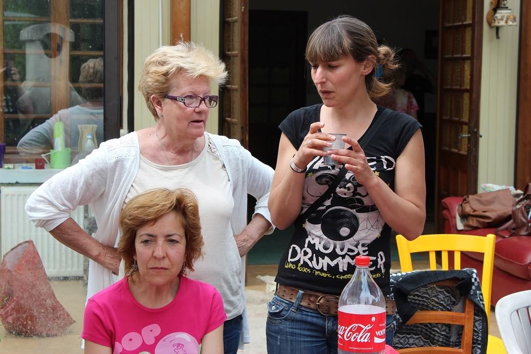 Mercedes et les deux Maria-José