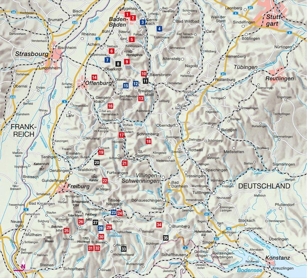 Übersichtskarte zum Wanderführer Genusswandern im Schwarzwald