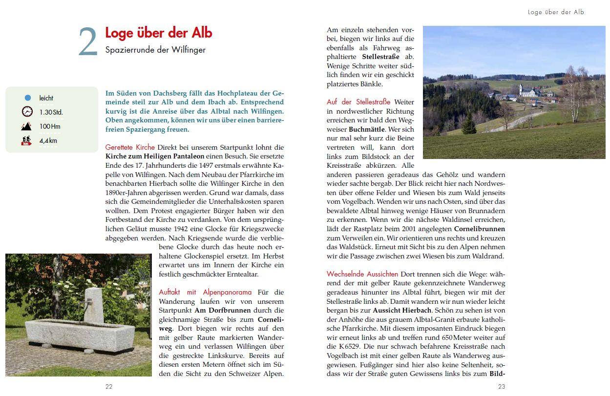 Panoramawege für Senioren Südschwarzwald - Tourenbeispiel 1