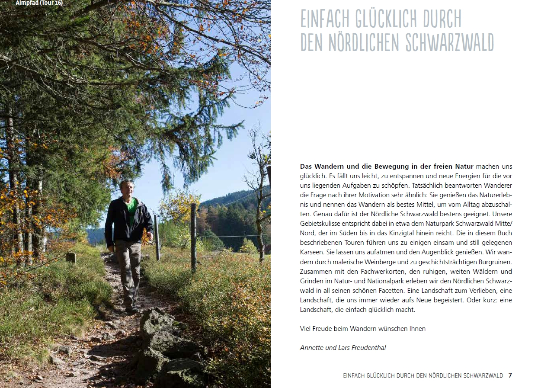 Einfach glücklich Wandern nördlicher Schwarzwald - Einleitung