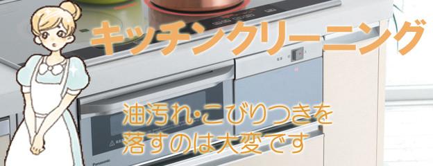 キッチンクリーニング、油汚れ・こびりつきに。