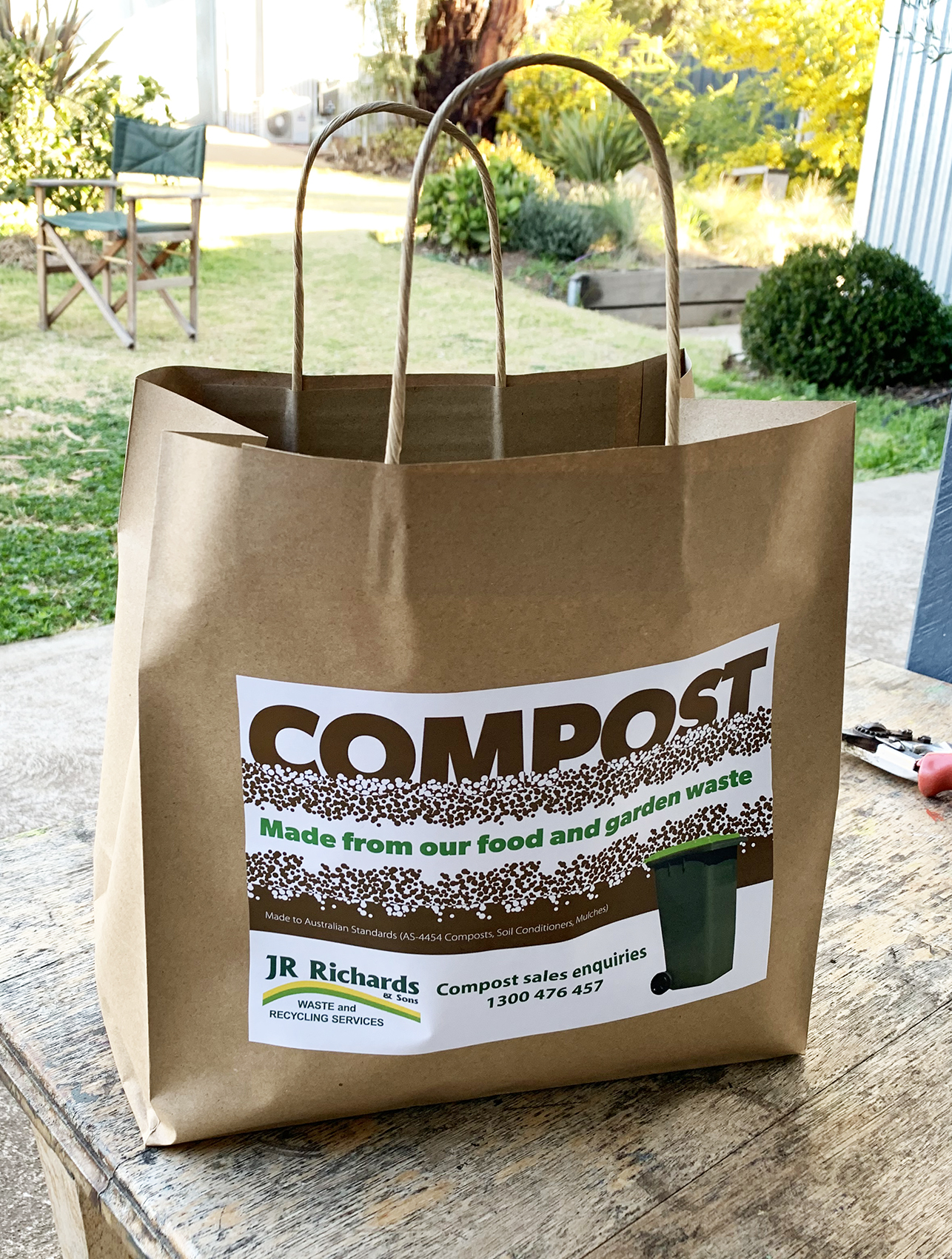 One of a suite of materials promoting compost produced from local waste