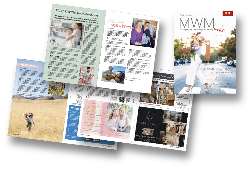 Layout & advertisement preparation of monthly magazine (Mid-Western Mail)