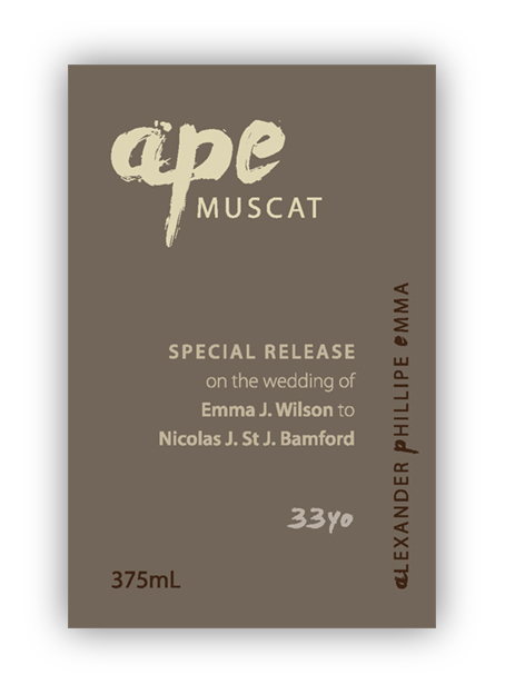 Special event label design
