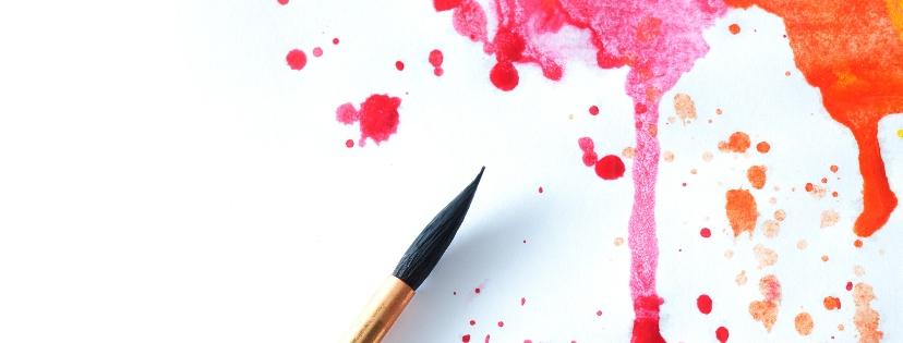 筆と水分とキャンバスと。