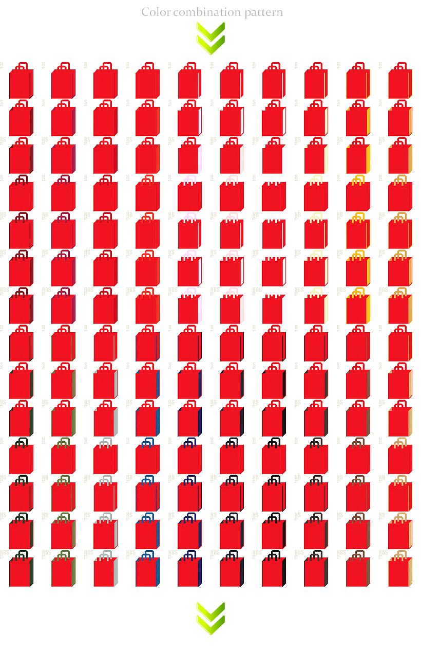 ゲーム・ロボット・キッズ・クリスマス・ひな祭り・母の日・お正月・和風催事・福袋にお奨めの不織布バッグデザイン:赤色のコーデ