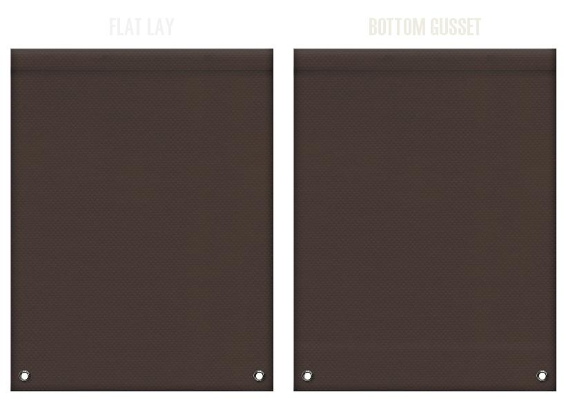 不織布リュックサックのカラーシミュレーション:こげ茶色