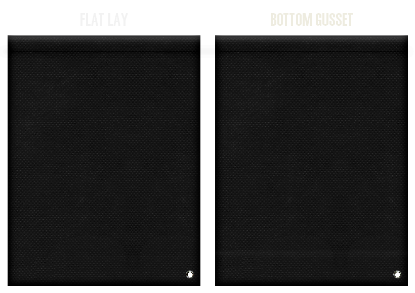不織布ショルダーバッグのカラーシミュレーション:黒色