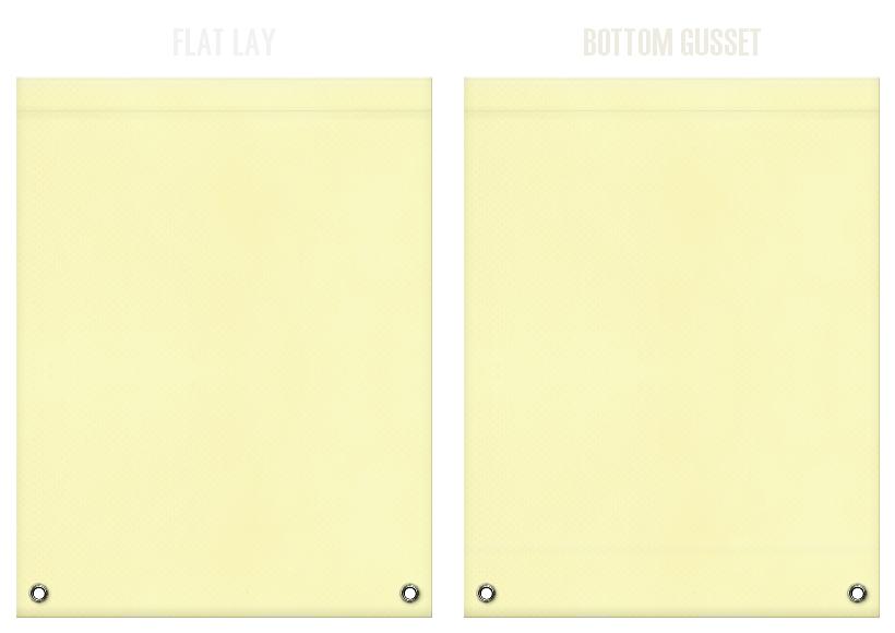 不織布リュックサックのカラーシミュレーション:薄黄色