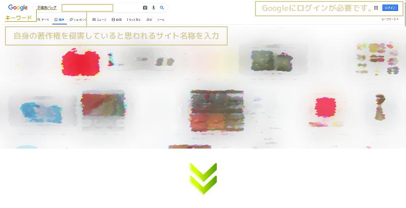 DMCAに基づいた対処・・・Google画像検索による事例