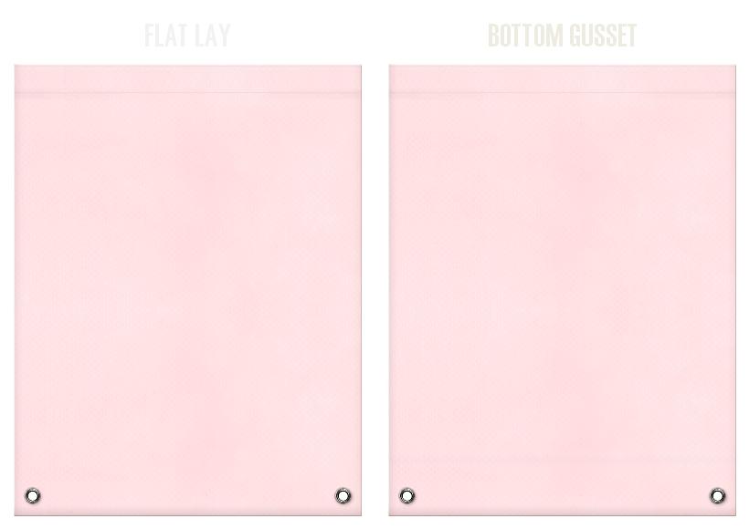 不織布リュックサックのカラーシミュレーション:桜色