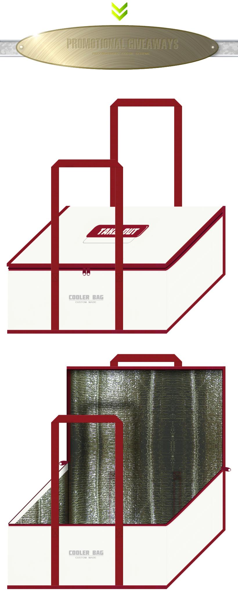 不織布バッグのデザイン:寿司・テイクアウトの保冷バッグ