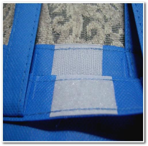 名入れ印刷用不織布トートバッグ(マチ有)の面ファスナーの画像
