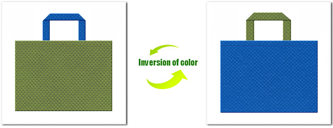 不織布No.34グラスグリーンと不織布No.22スカイブルーの組み合わせ