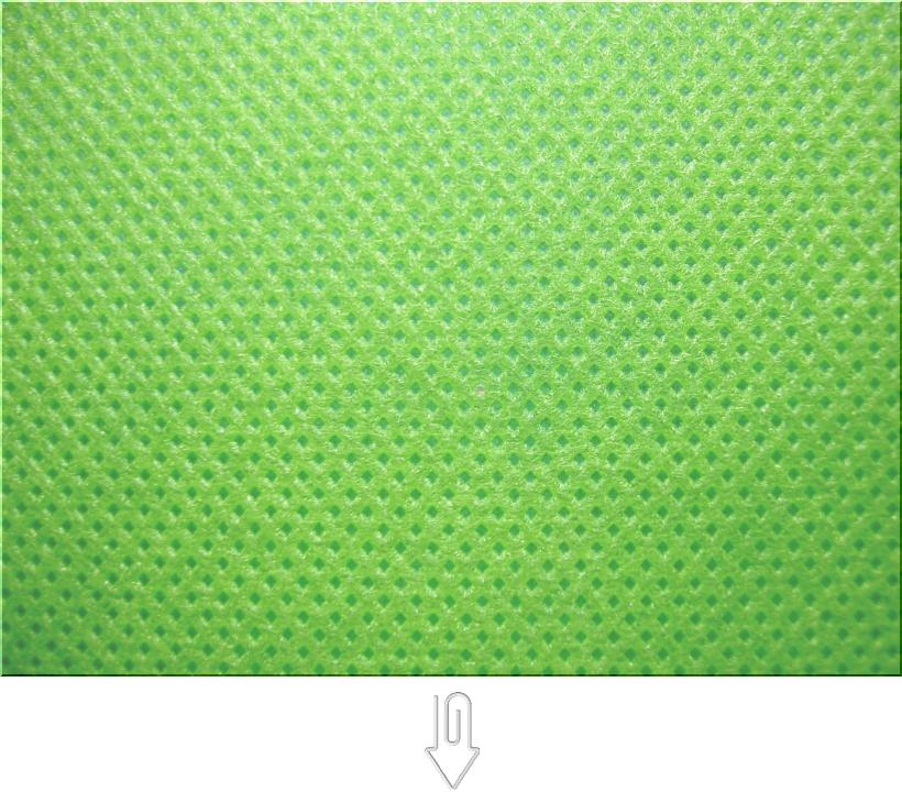 黄緑色の不織布