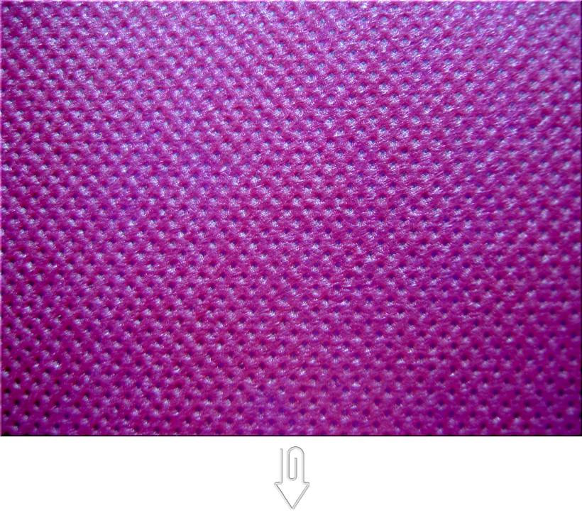 濃いピンク色の不織布