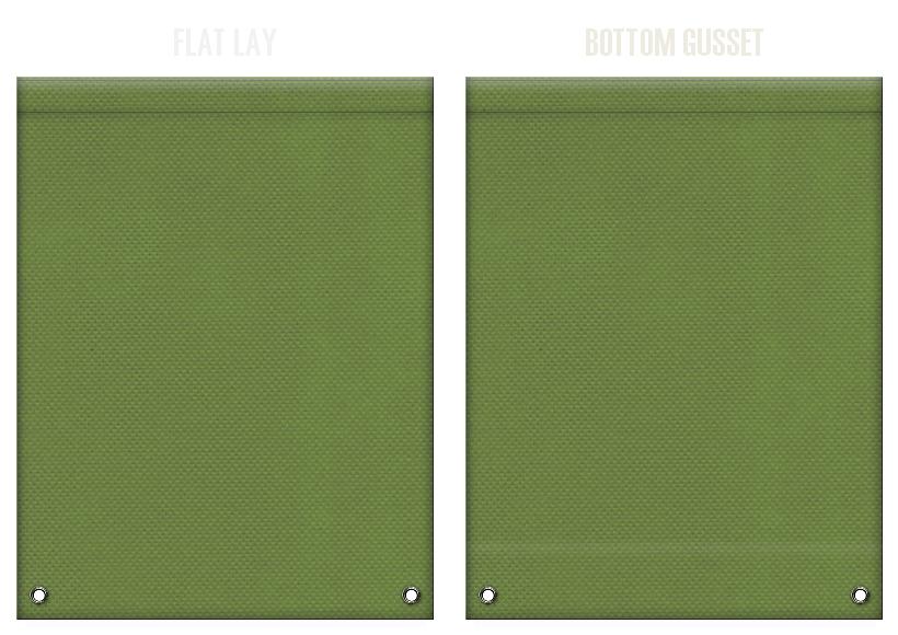 不織布リュックサックのカラーシミュレーション:草色