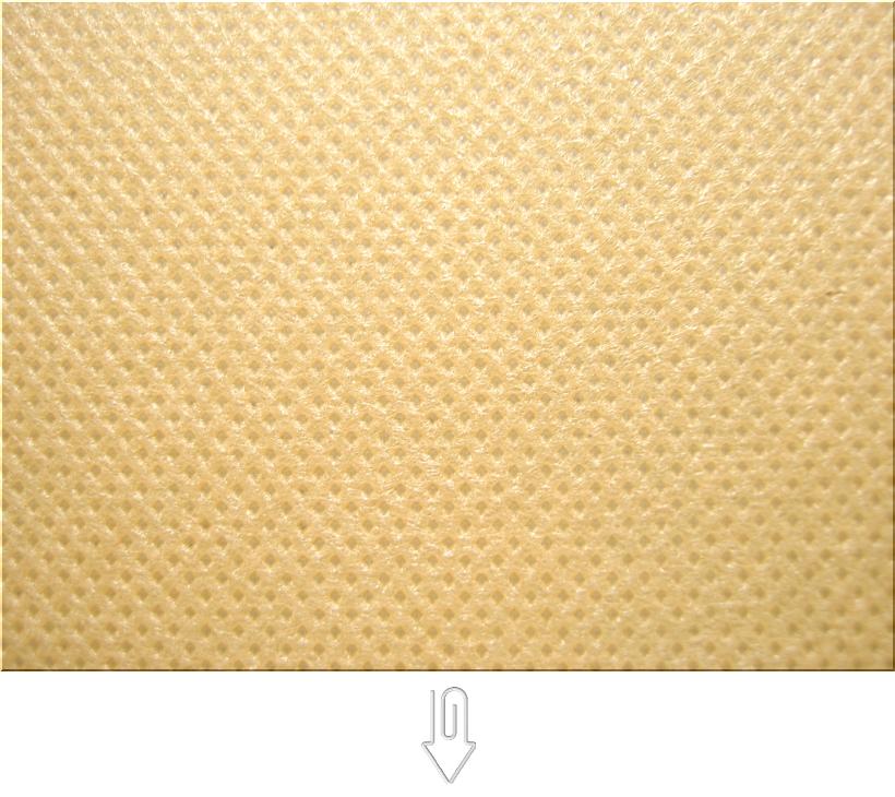 薄黄土色の不織布バッグ制作用生地カラー:不織布No.8