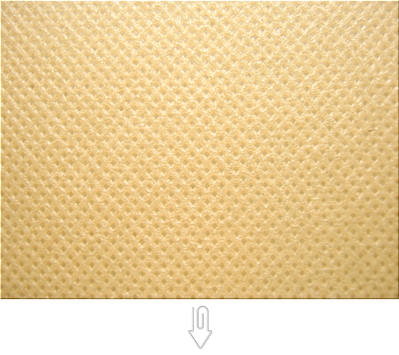 薄黄土色の不織布