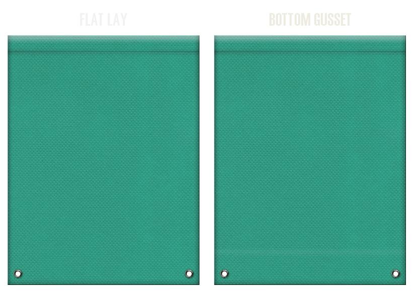 不織布リュックサックのカラーシミュレーション:青緑色