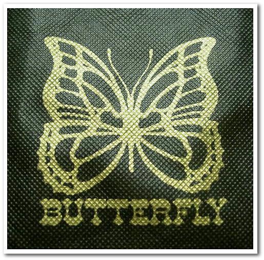 不織布バッグの名入れ|シルク印刷事例.1|ブラック生地に金色の印刷.1