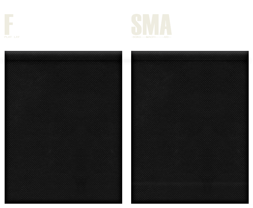 不織布巾着袋のカラーシミュレーション:黒色