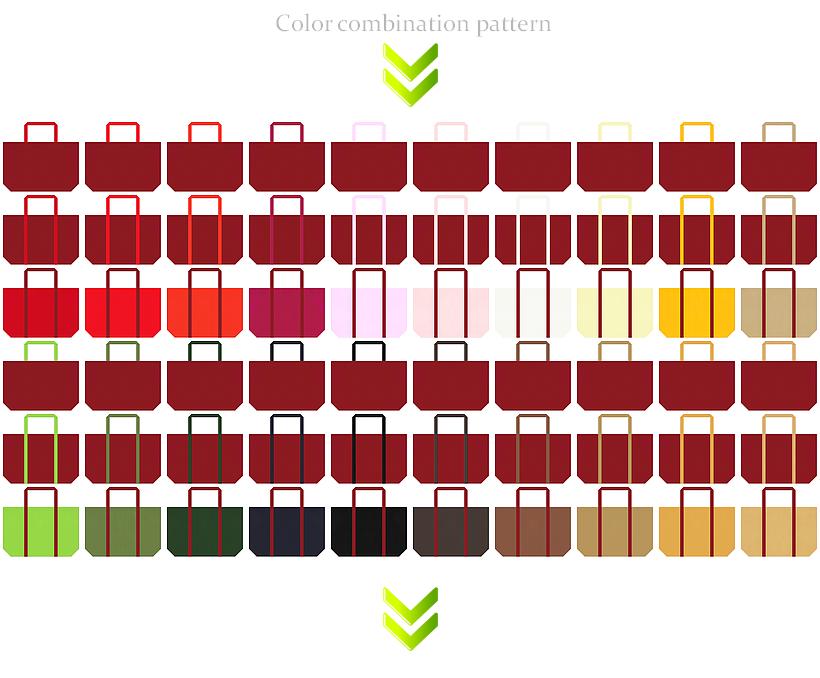 エンジ色の不織布ショッピングバッグのコーデ:和風催事・慶事・プレミアムセール・福袋にお奨め
