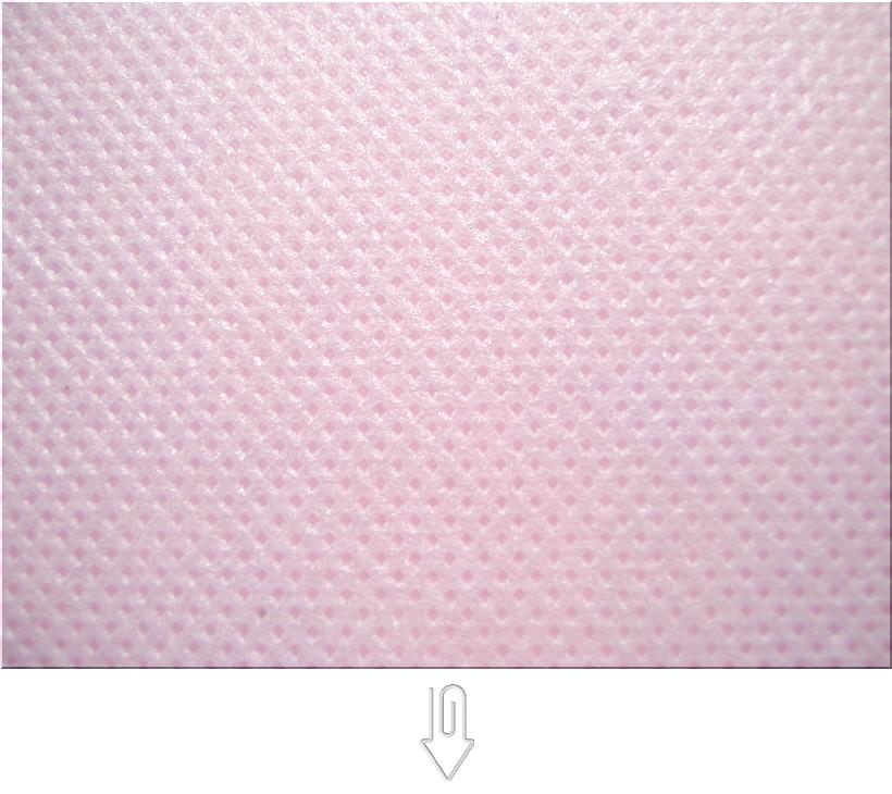パステルピンク色の不織布