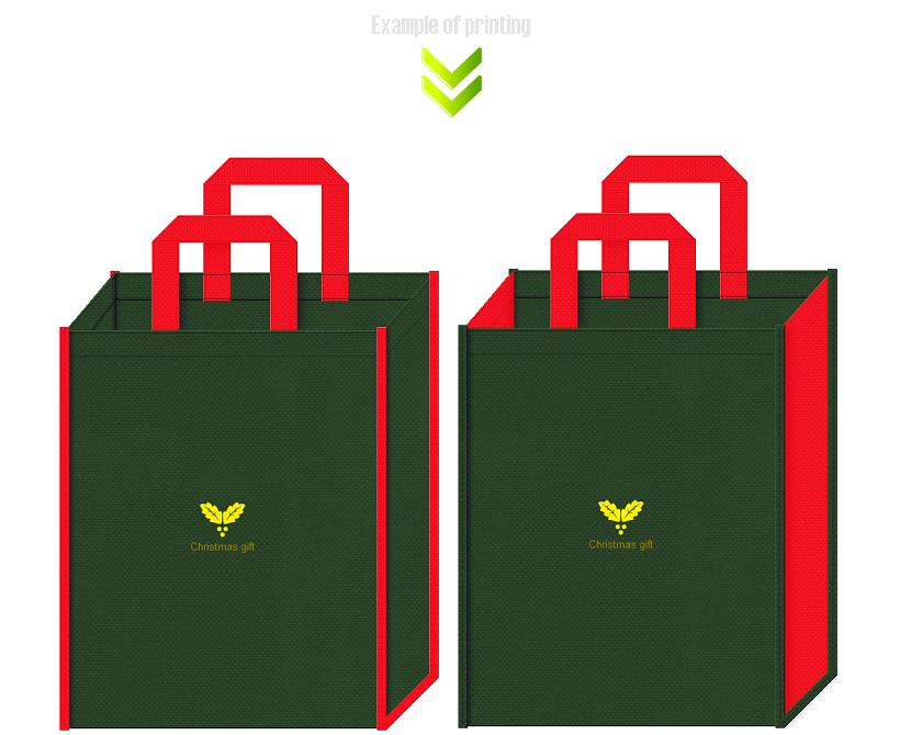 クリスマスギフト用の不織布バッグデザイン