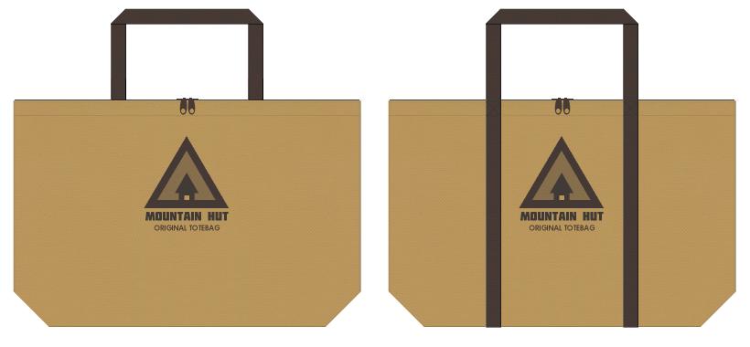 不織布バッグのデザイン:ログハウス