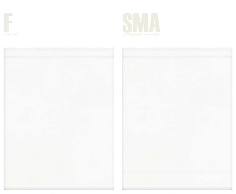 不織布巾着袋のカラーシミュレーション:オフホワイト色