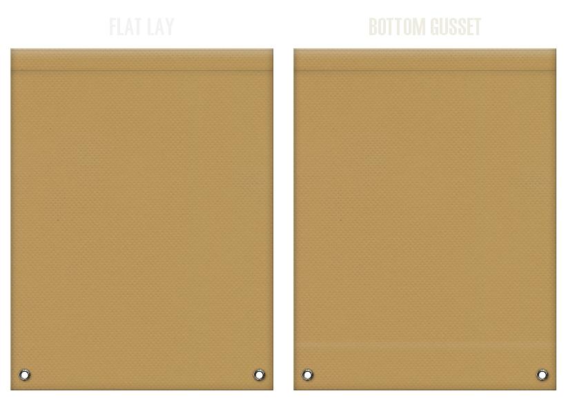 不織布リュックサックのカラーシミュレーション:金黄土色