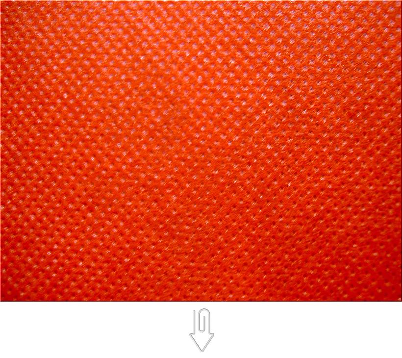 オレンジ色の不織布