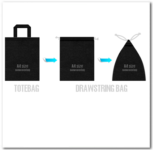 10.トートバッグを巾着袋にする方法も・・・・・
