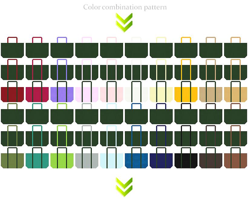 ワイルド・ボタニカル・アンティーク・ヴィンテージ・和柄のエコバッグにお奨めの不織布バッグデザイン:濃緑色・深緑色のコーデ84例