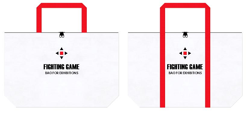 不織布バッグのデザイン:対戦型格闘ゲームの展示会用バッグ