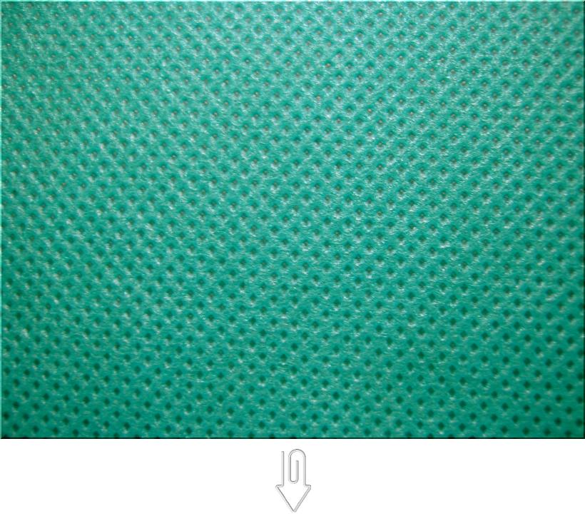 青緑色の不織布バッグ制作用生地カラー:不織布No.31