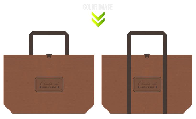 不織布バッグのデザイン:ベーカリー・スイーツのショッピングバッグ