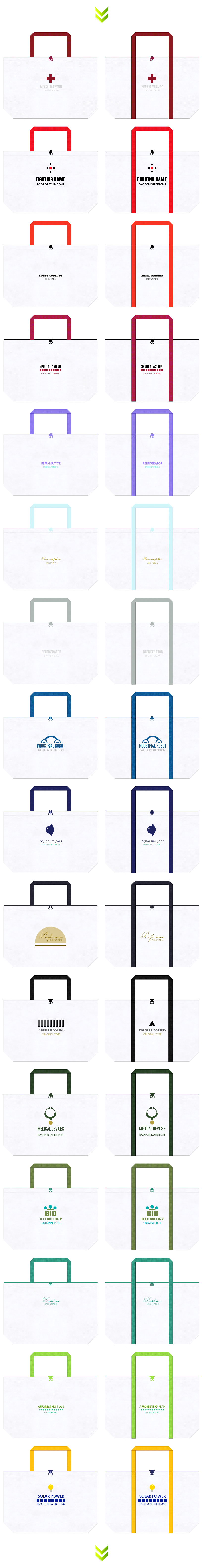 ファスナー付の不織布バッグのデザイン:展示会用バッグ・販促イベントのノベルティ・スポーツバッグ・お買い物用バッグにお奨めです。